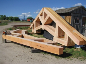 timber frame trusses at montana timber structures