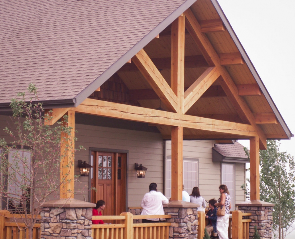Timber Frame Entry Roof Systems And Accents For