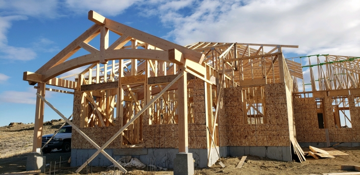 arched trusses in house construction